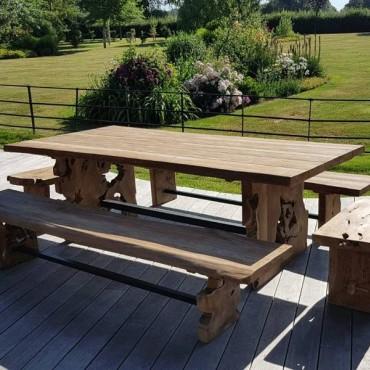 Nature Teak Bench Set 2.4m