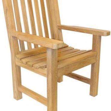 Classic teak armchair