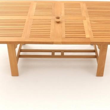 Chunky Rectangular Extending Teak Table