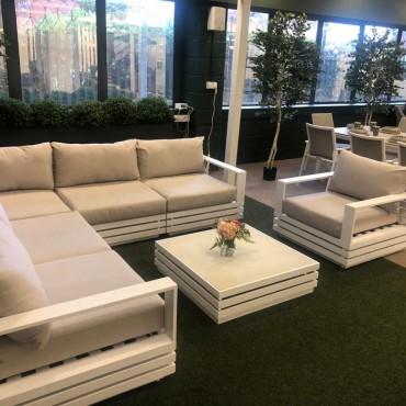 San Marino Corner Sofa Set with Armchair