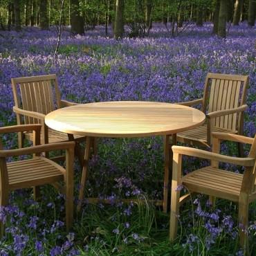 Warwick 120cm dia table folding set