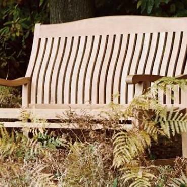 Malvern teak bench - 150cm