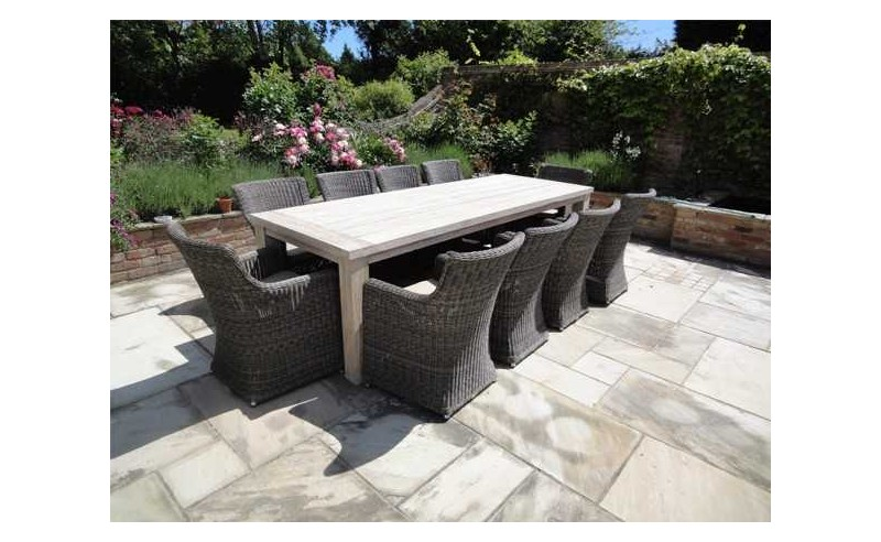 Seville recycled teak dining set - 10 chairs
