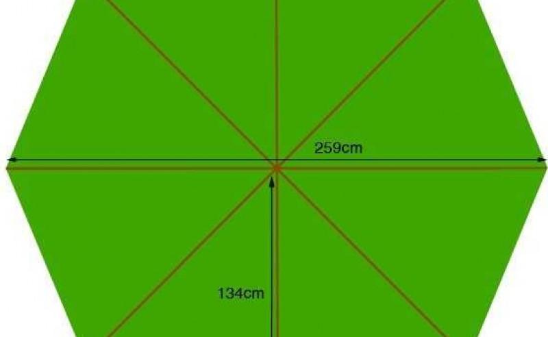 Parasol canopy - 250cm diameter